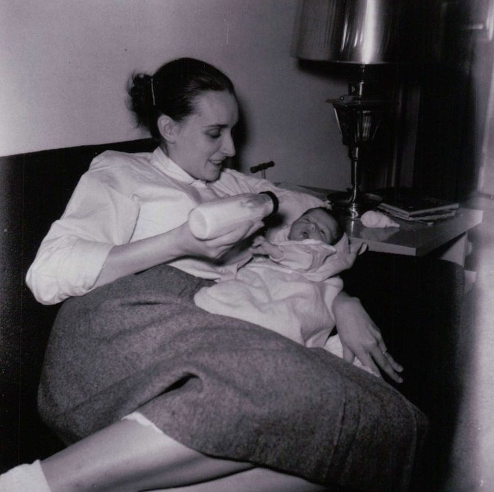 Mom and me in 1962